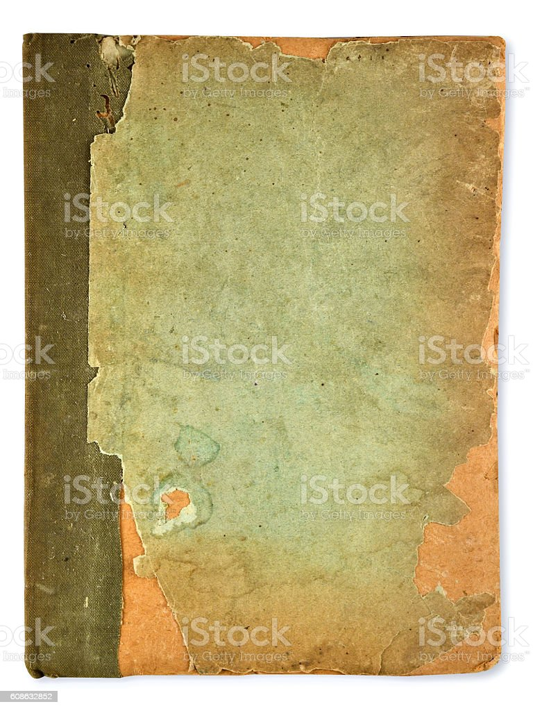 old vintage book stock photo