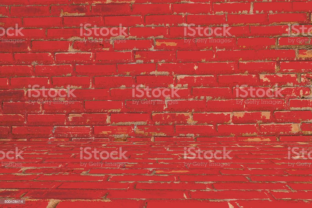 old vintage brick wall background and textures stock photo