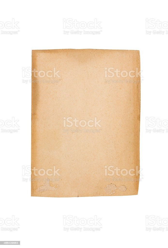 old vintage brown cardboard for backgrounds stock photo