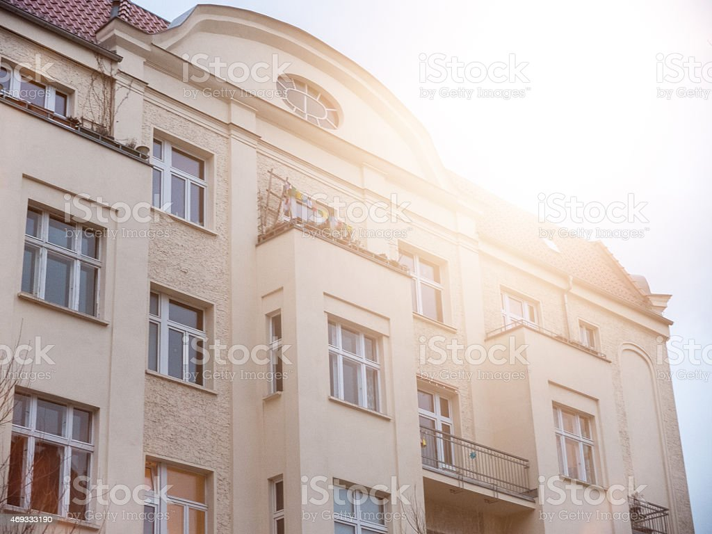 old vintage building stock photo