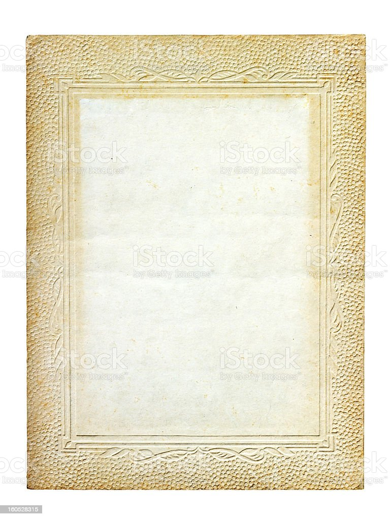 old vintage cardboard frame royalty-free stock photo