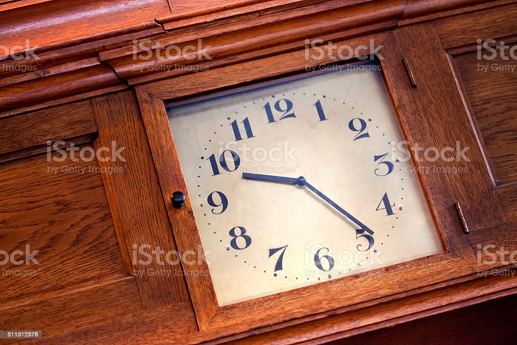 Old vintage clock stock photo