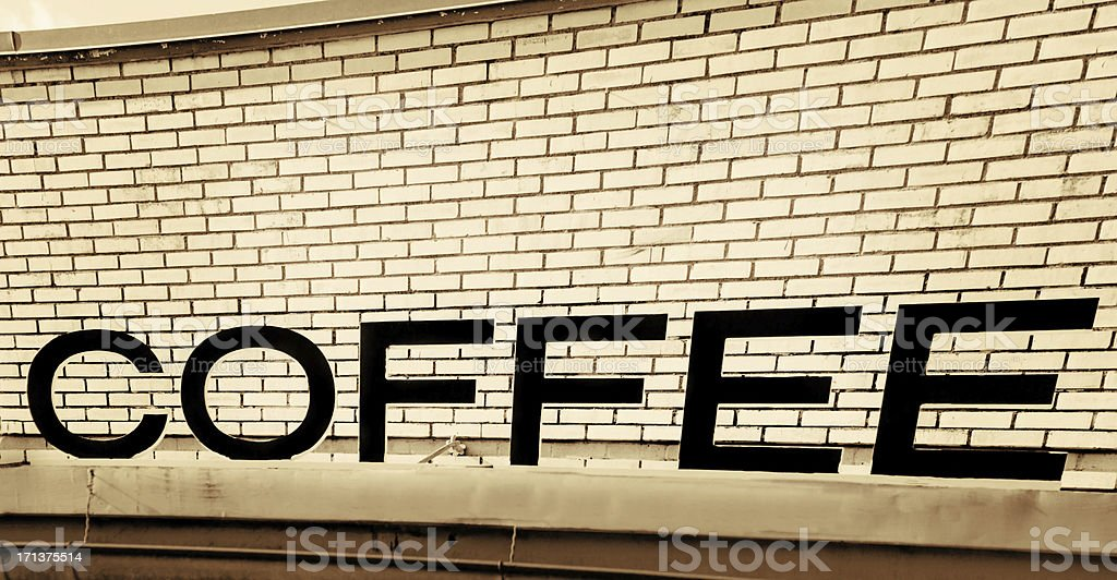 Old Vintage Coffee sign royalty-free stock photo