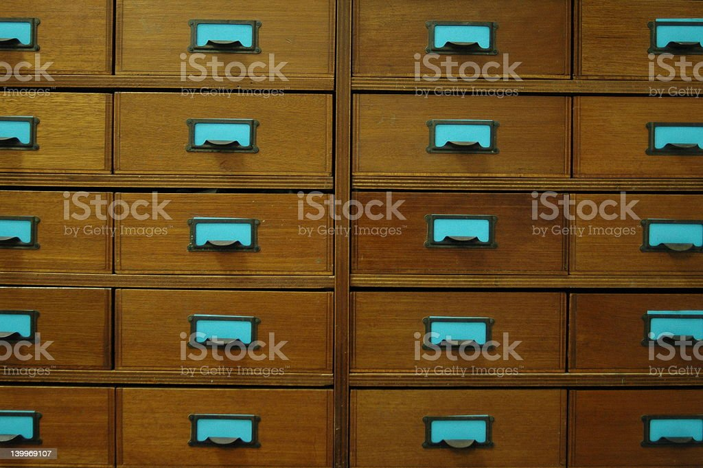 old vintage drawer cabinet royalty-free stock photo