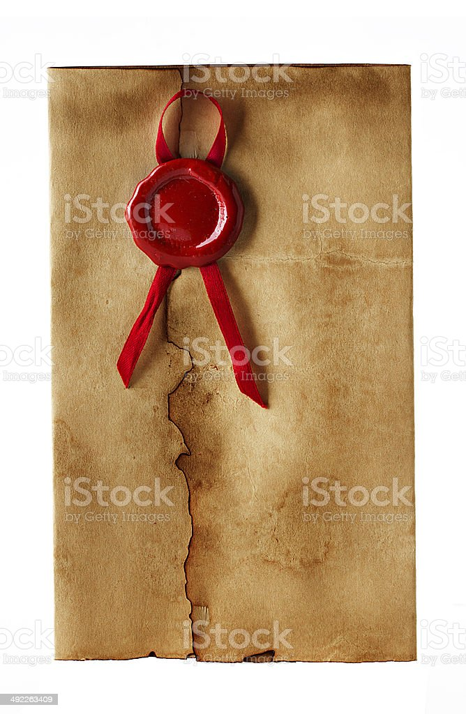 old, vintage envelope isolated stock photo