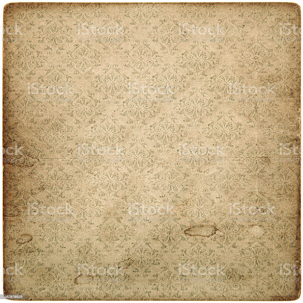 old vintage grunge paper sheet with pattern stock photo