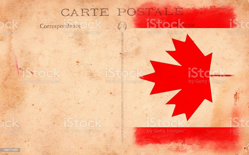 XXXL Old Vintage Grunge Post Card Canada Flag royalty-free stock photo