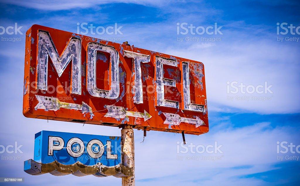 Old Vintage Motel Sign stock photo
