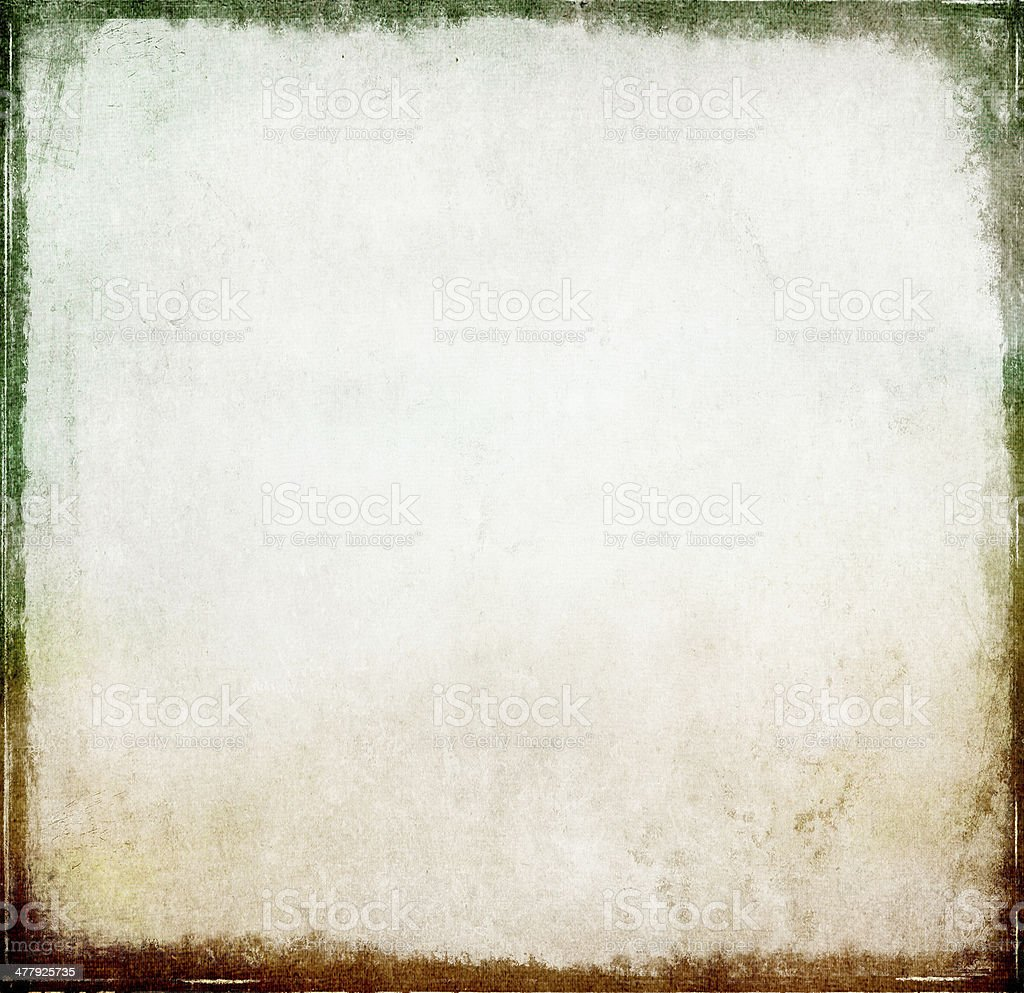Old vintage paper background with grungy border royalty-free stock photo