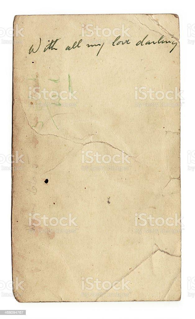 Vintage vecchia carta (con clipping path) foto stock royalty-free
