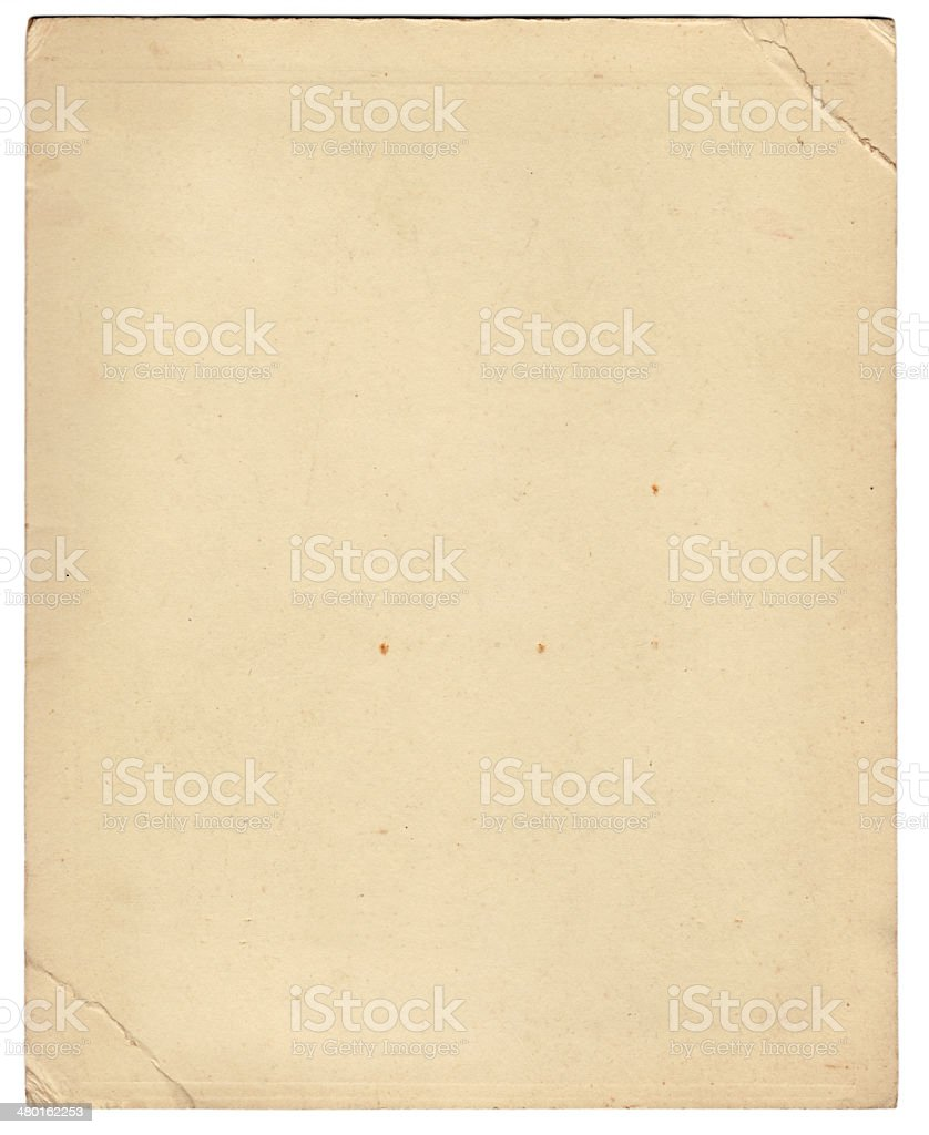 Vintage vecchia carta (con clipping path) foto stock royalty-free