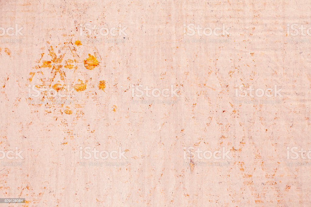 old vintage paper texture with printed rusty metal sign stock photo