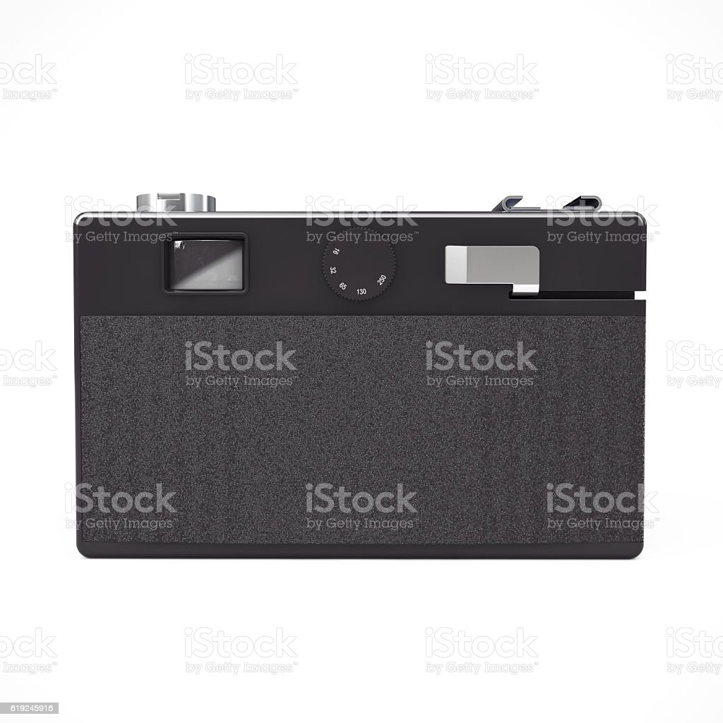 Old Vintage Photo Camera. 3d Rendering stock photo