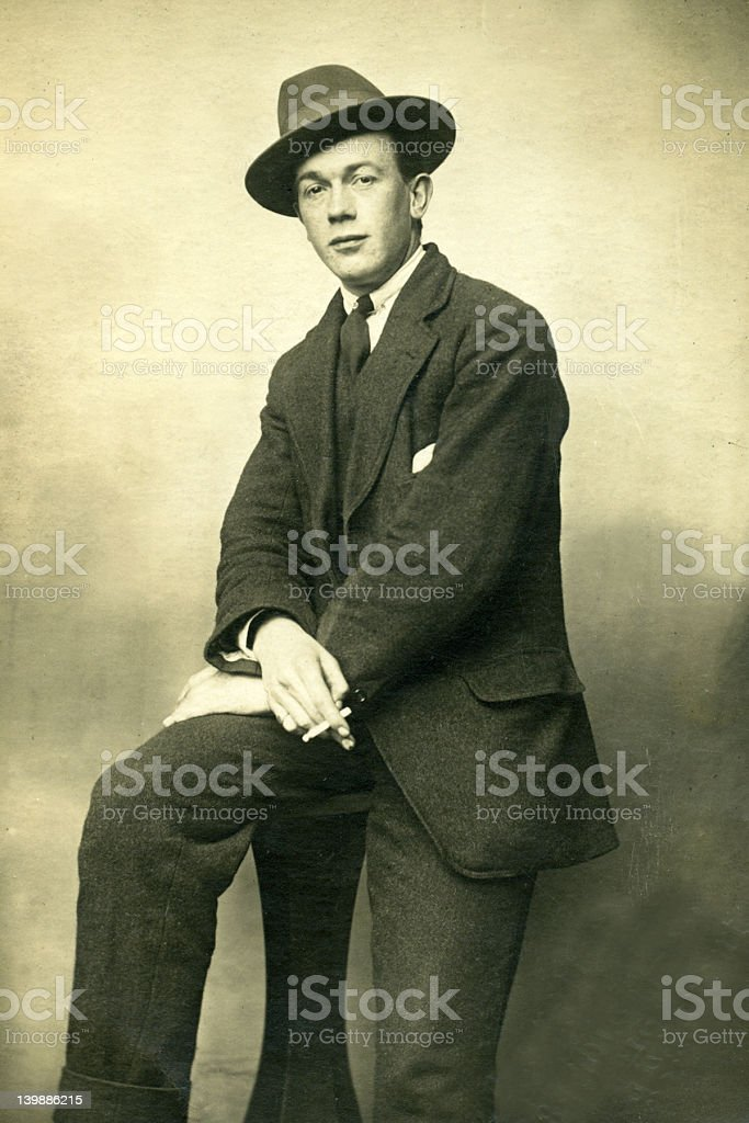Old Vintage Photo of man stock photo