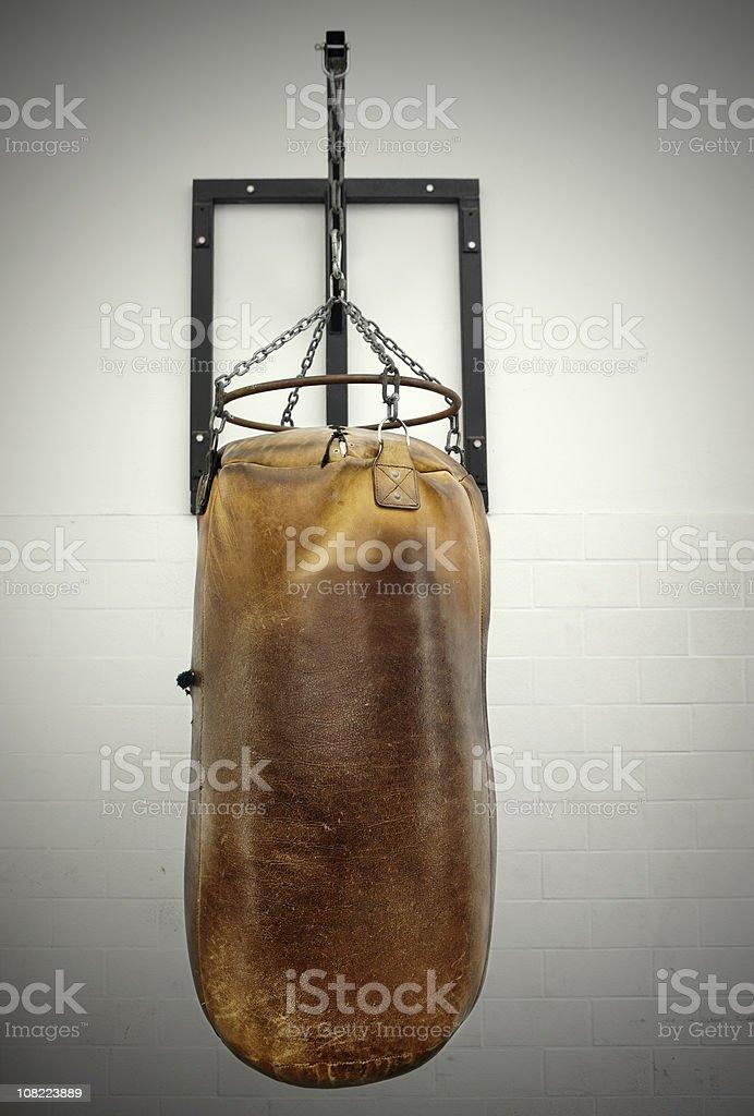 Old Vintage Punching Bag stock photo