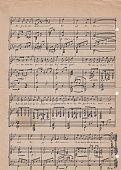 Old vintage sheet music