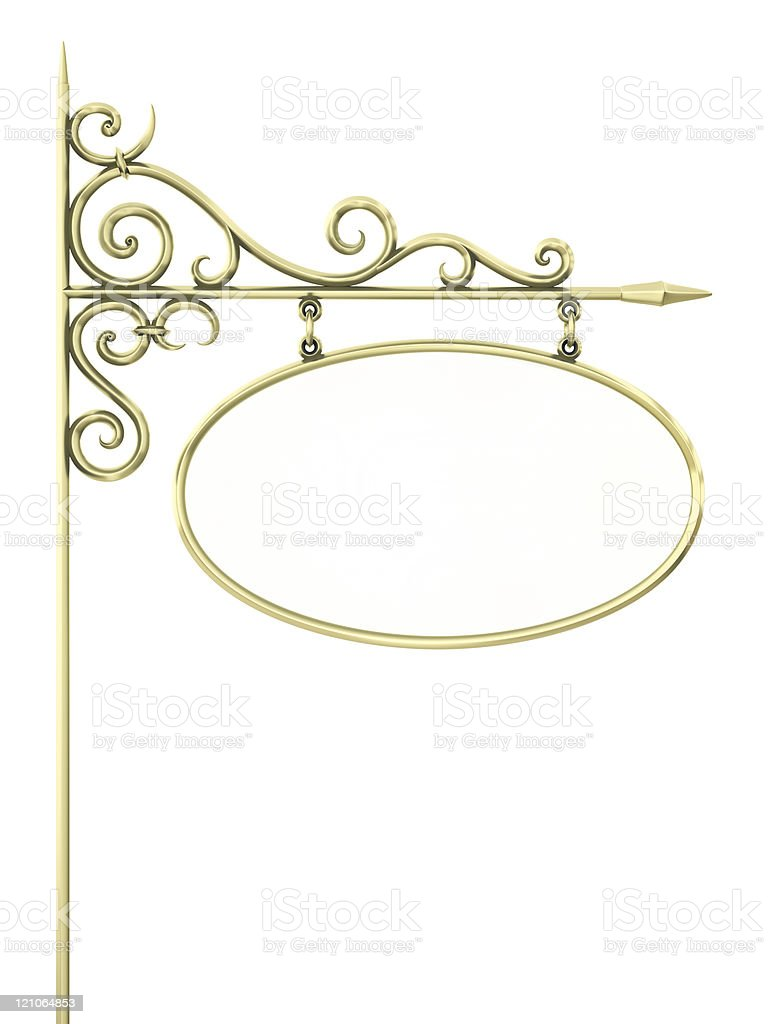 Old vintage sign with gold frame royalty-free stock photo