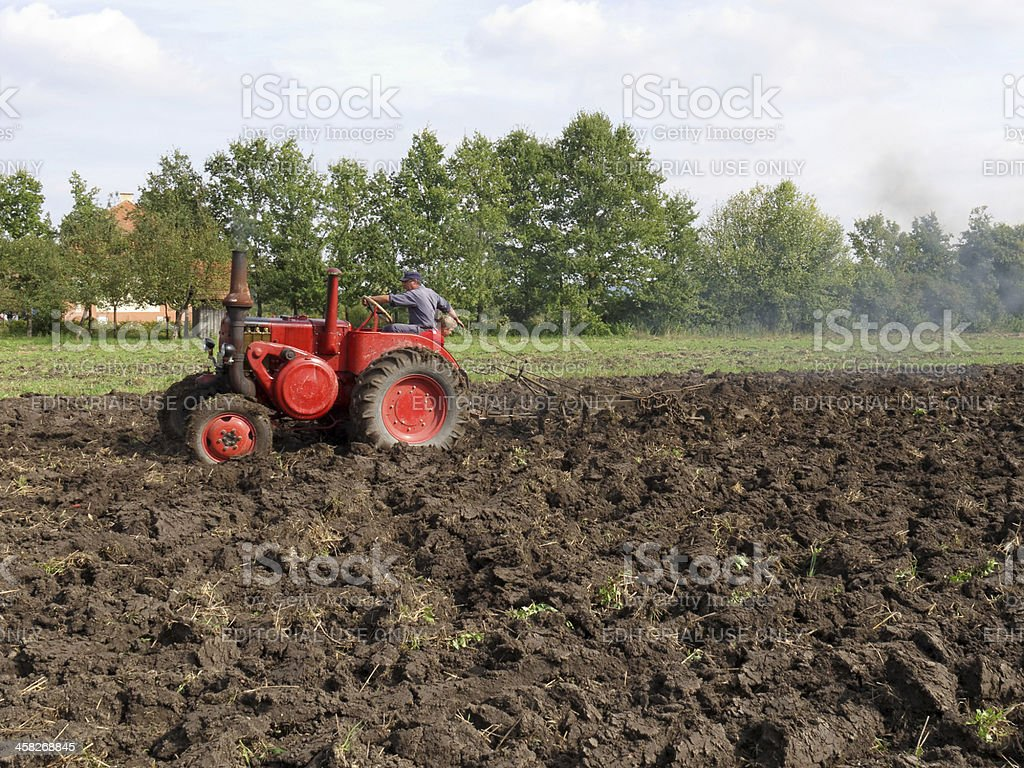 old vintage tractor royalty-free stock photo