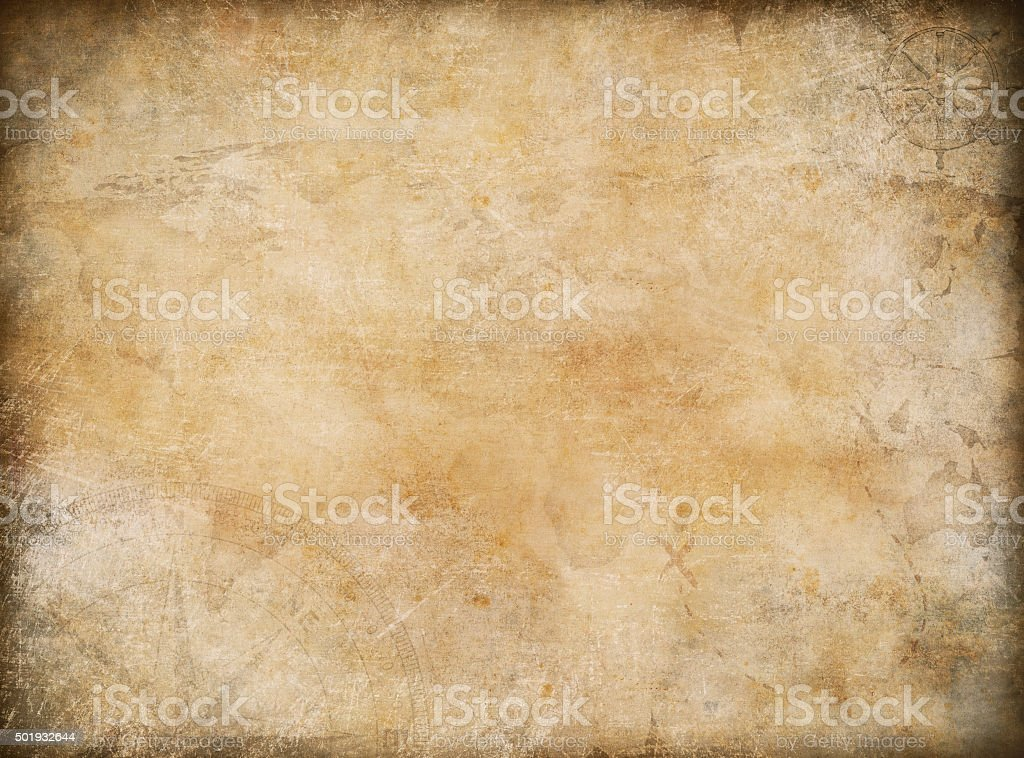 old vintage treasure map nautical theme background stock photo