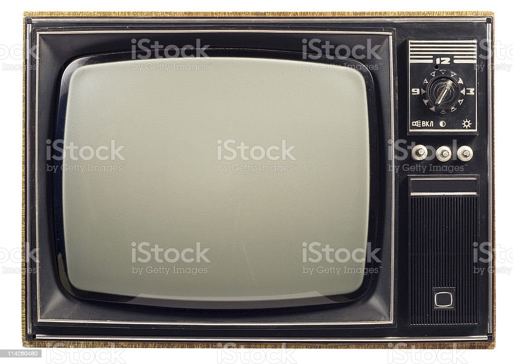 Old vintage TV royalty-free stock photo