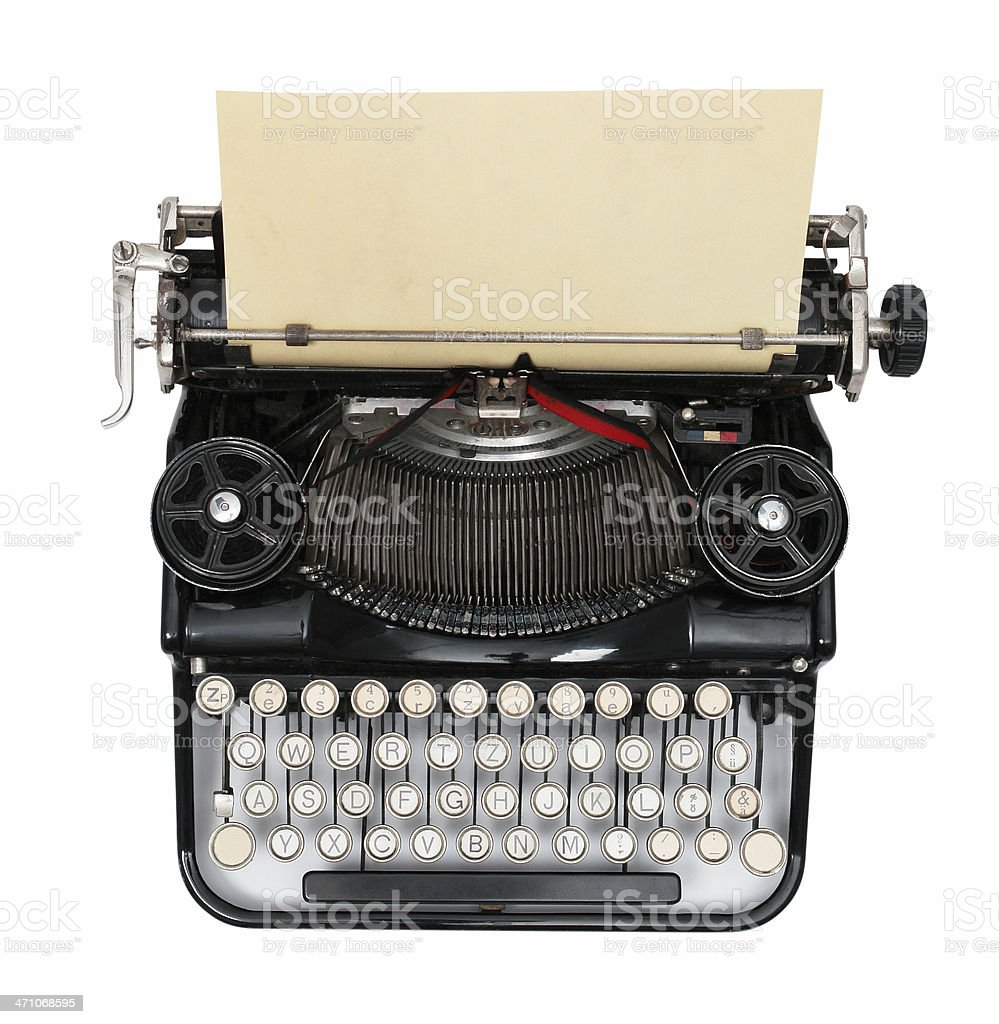Old Vintage Typewriter royalty-free stock photo