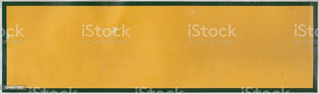 Old vintage yellow frame stock photo