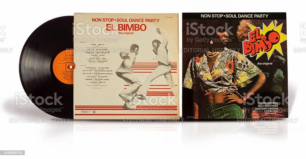 Old vinyl album El Bimbo stock photo