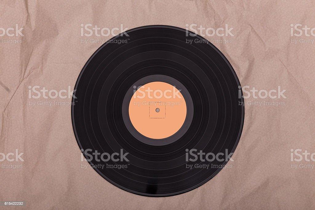 Old vinyl record stock photo
