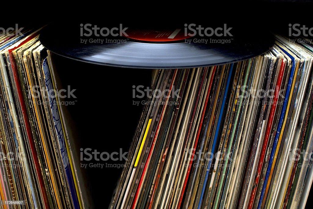Old vinyl records 2 stock photo