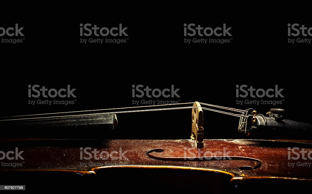 Old Violin From Aside stock photo