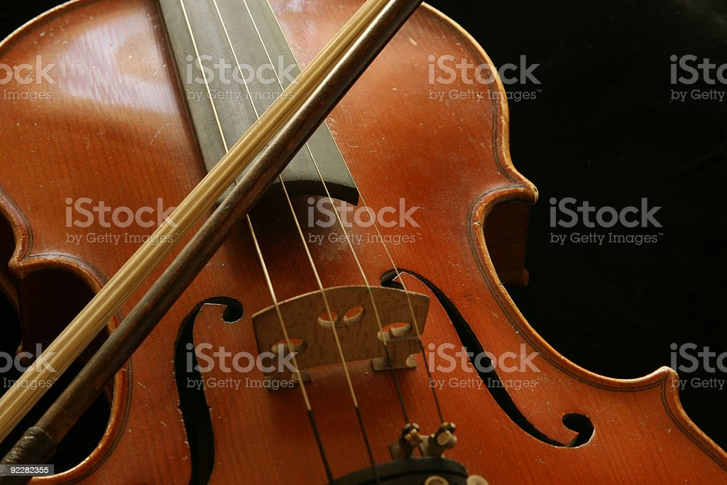 Old Violin royalty-free stock photo