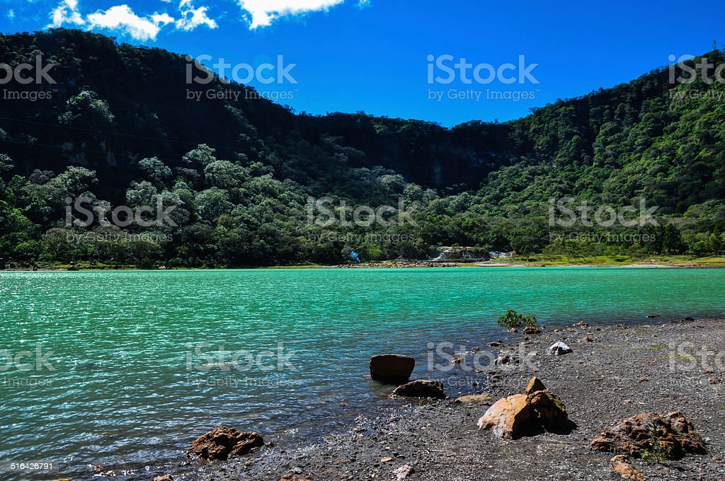 Old Volcano's Crater now Turquoise Lake, Alegria, El Salvador stock photo