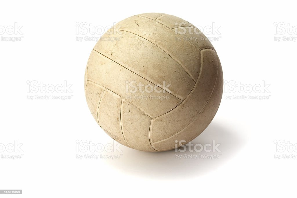 Old Volley Ball royalty-free stock photo