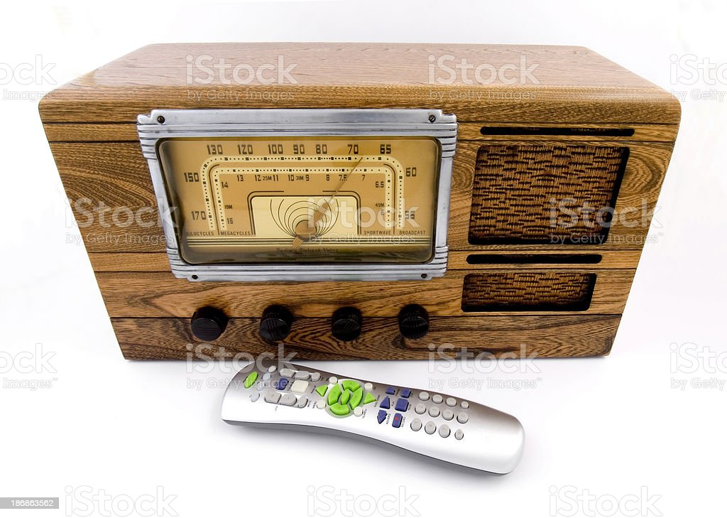 Old vs New Technology royalty-free stock photo