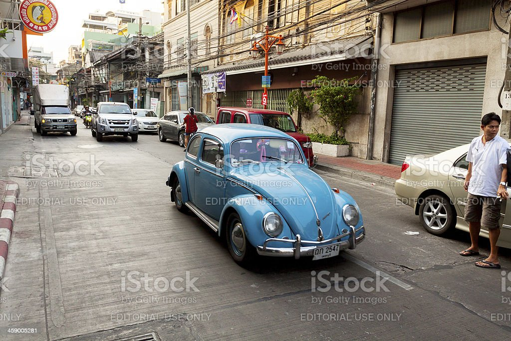 Old VW in Bangkok royalty-free stock photo