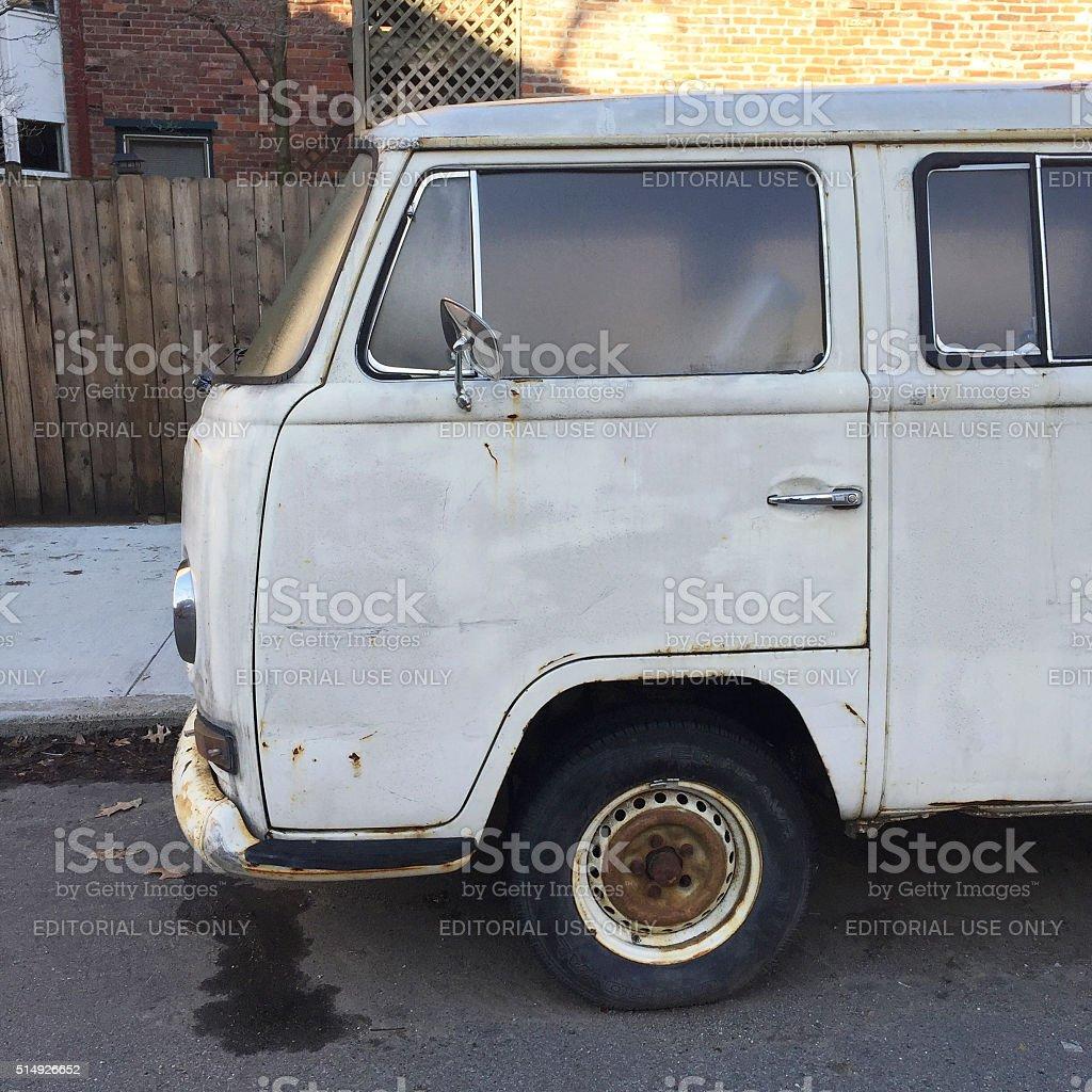 Old VW Van in Pittsburgh stock photo