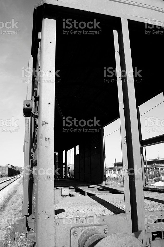 Old waggon stock photo