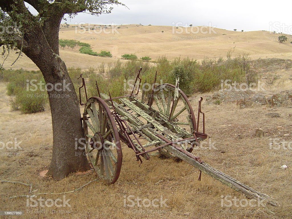 Old wagon lost in time royalty-free stock photo