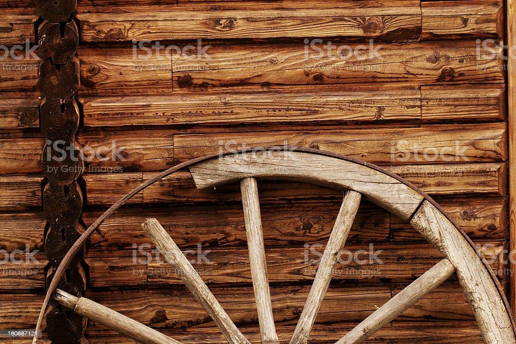 old wagon wheel royalty-free stock photo