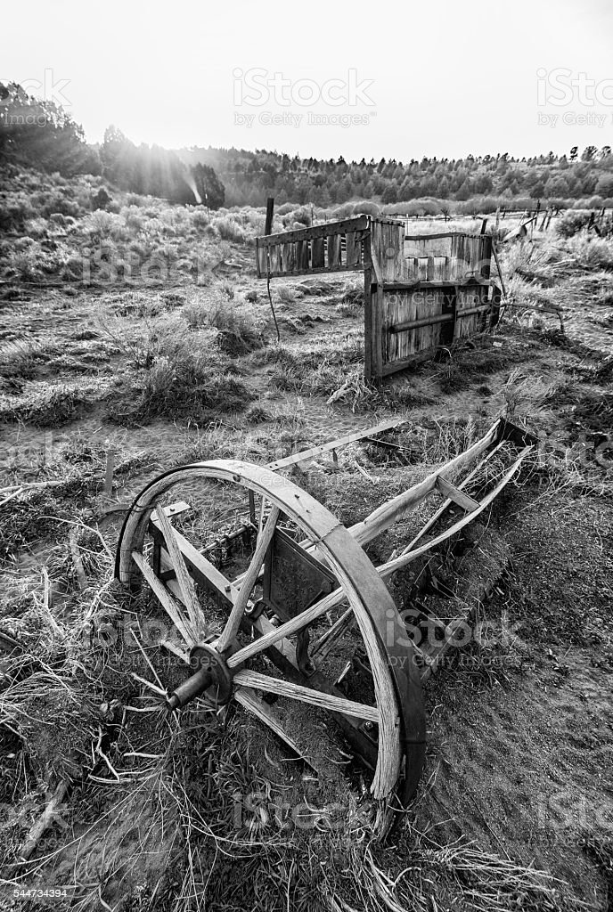 Old Wago Wheel stock photo