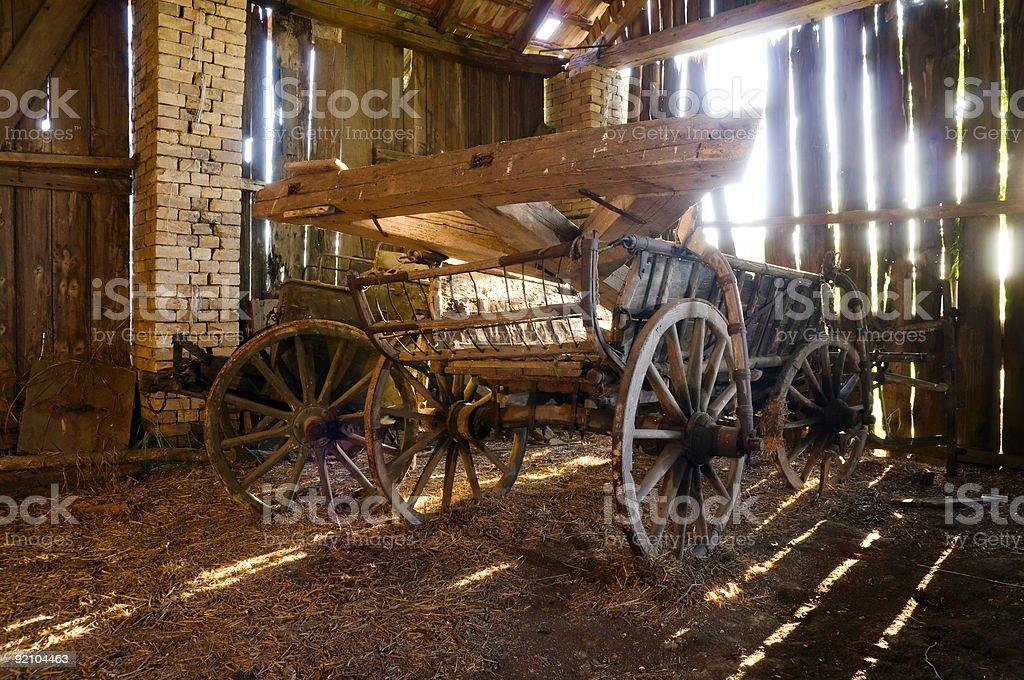 Vecchio wagon foto stock royalty-free