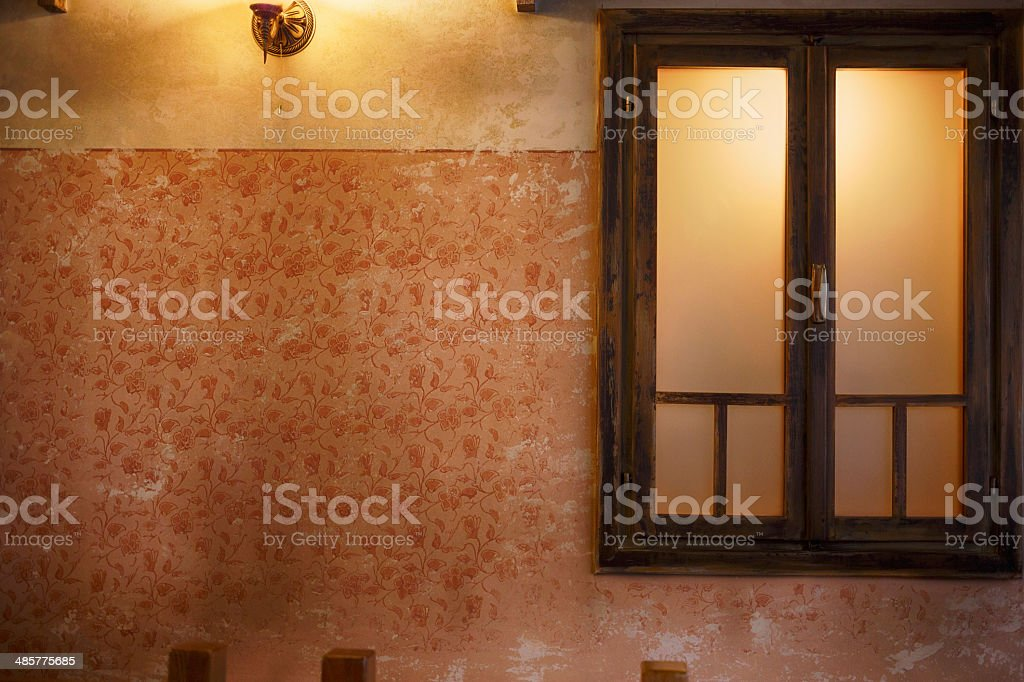 Old wall background - grunge interior royalty-free stock photo