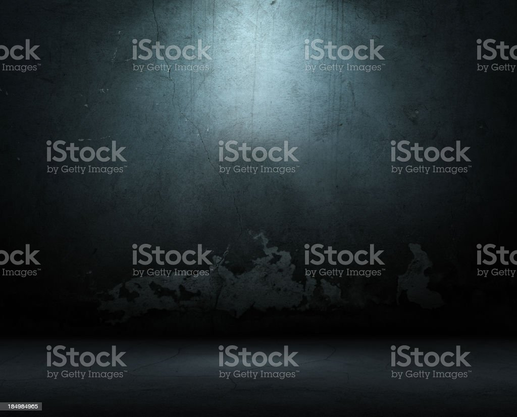 Old wall background with long cracks stock photo