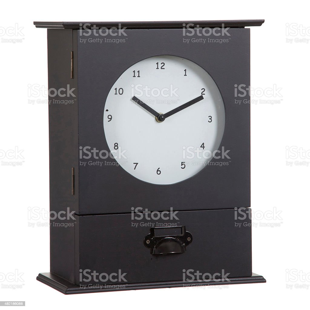 Old Wall Clock Isolated stock photo