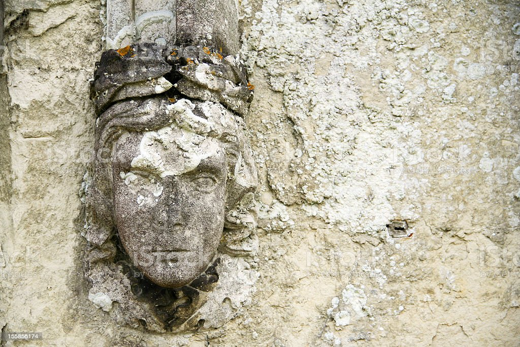 old wall detail carved relief royalty-free stock photo