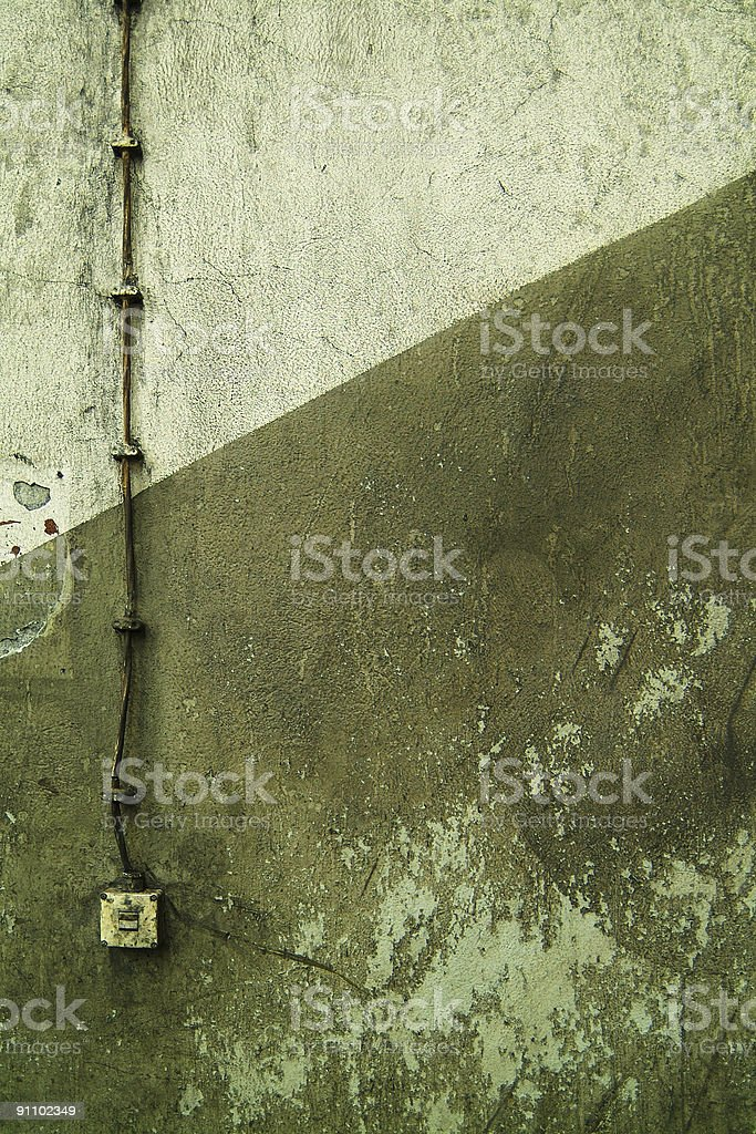 Old wall in staircase stock photo