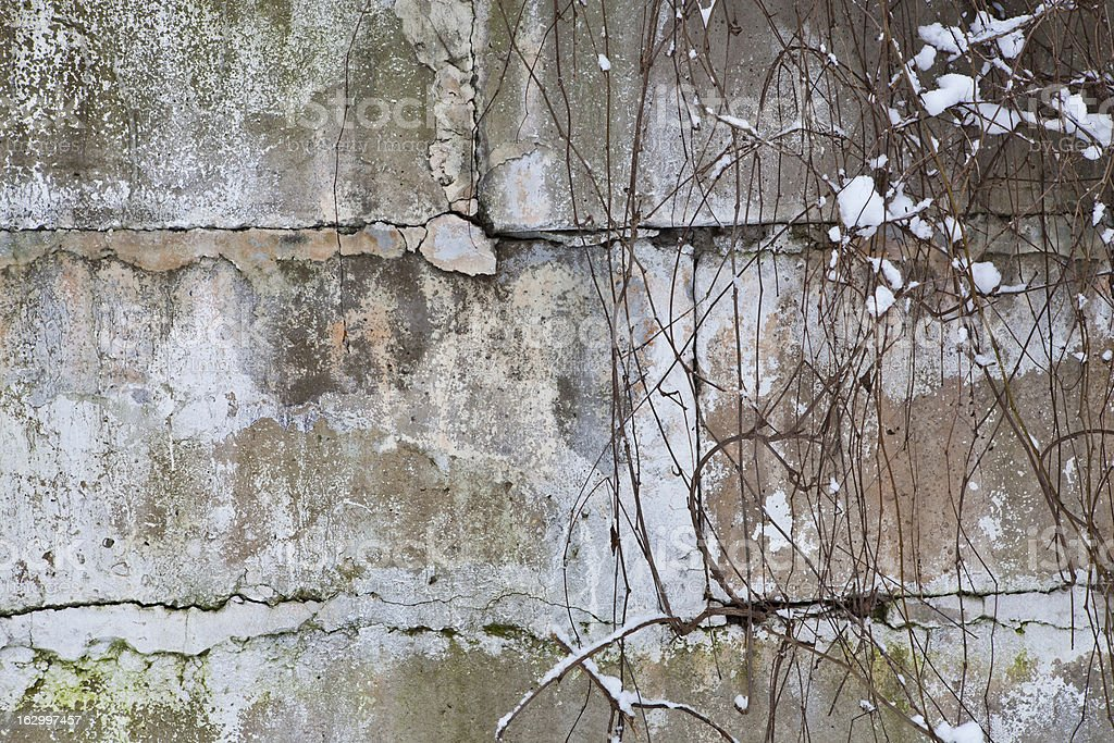 Old wall made of concrete royalty-free stock photo