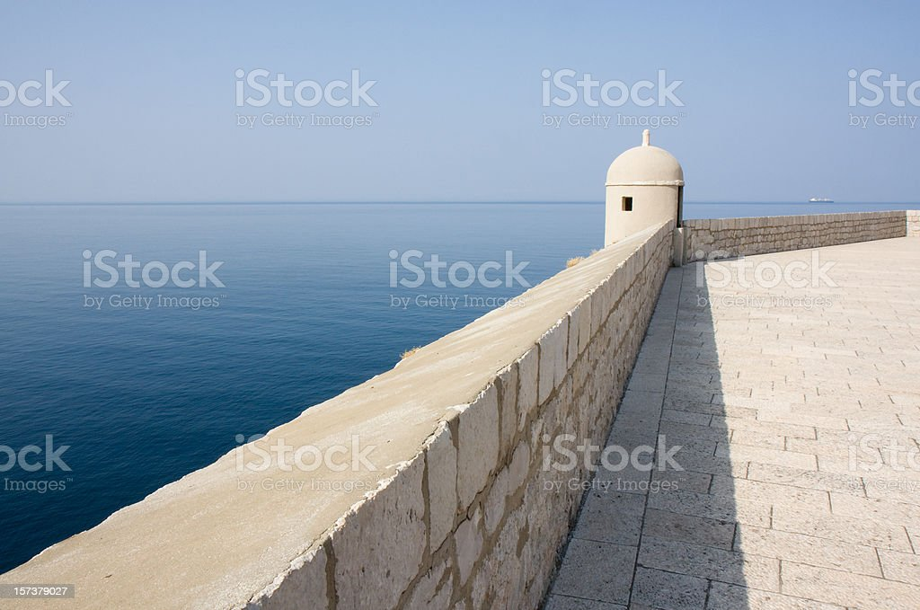 Old Wall of Dubrovnik royalty-free stock photo