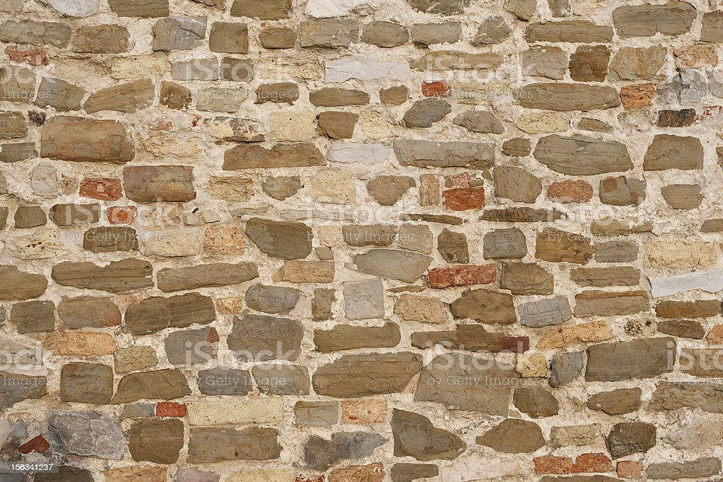 Old Wall with different stones royalty-free stock photo