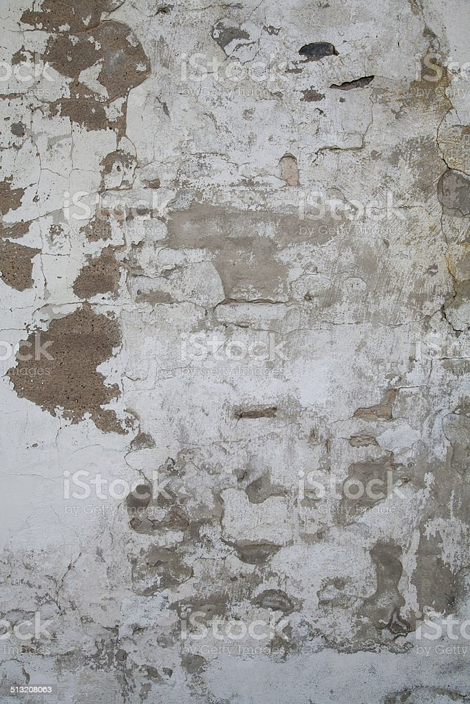 Old Wall with Paint and Clay Peeling Off stock photo